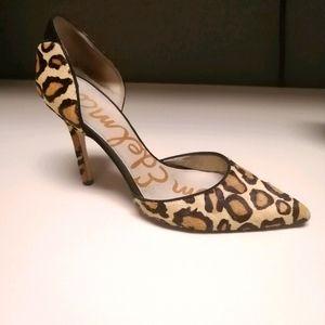 Sam Edelman Calf hair leopard print pumps